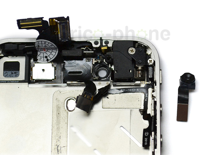 Etape 10c : Retirer la caméra avant