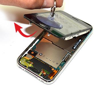 ETAPE 2b : Retirer le bloc complet (tactile + LCD)