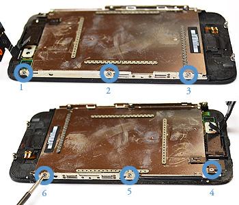 ETAPE 8a : Retirer l'écran LCD du chassis