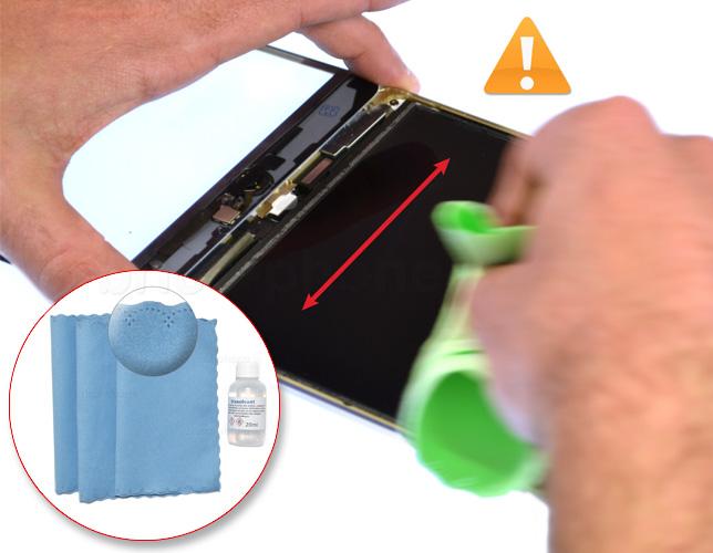 Etape 17a : Nettoyer le LCD