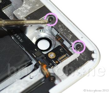ETAPE 4a : Dévisser la plaquette du bouton power