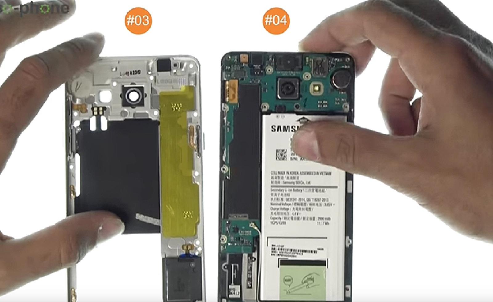 Etape 4 : Séparer le châssis du reste du téléphone