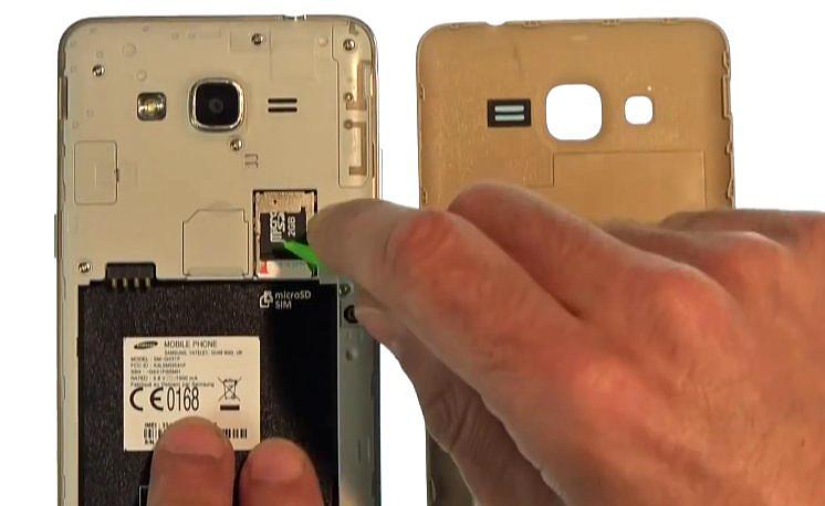 Etape 1-C : Ouvrez le Samsung Grand Prime