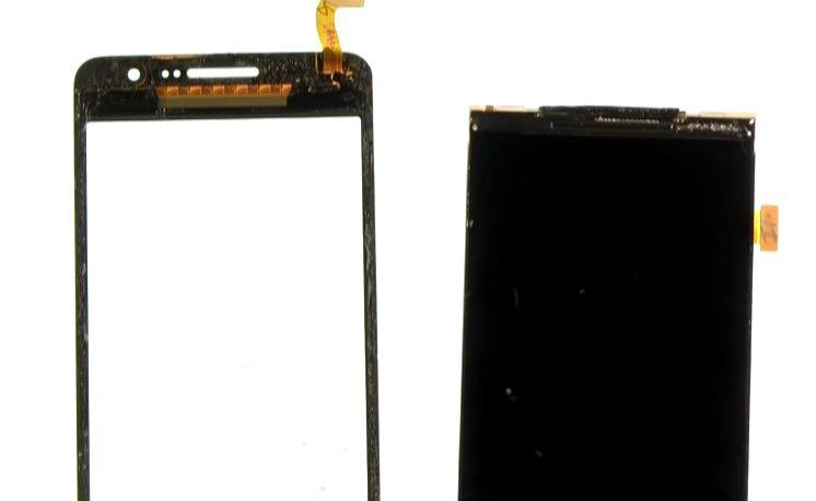 Etape 4-E : Décollez la vitre tactile de l'écran LCD.