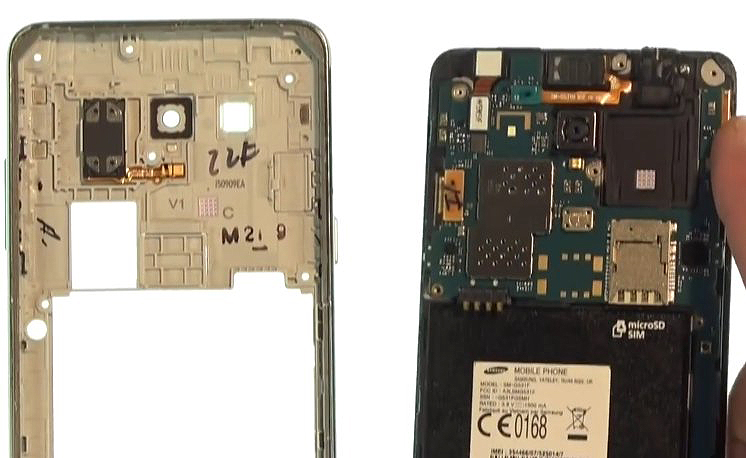 Etape 1-F : Ouvrez le Samsung Grand Prime