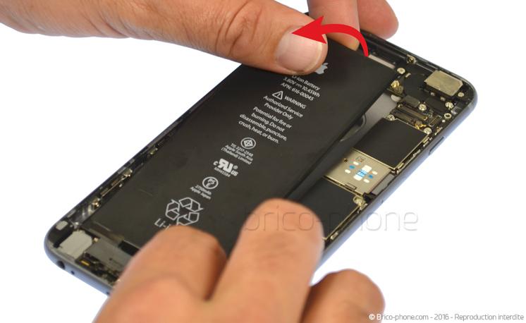 Etape 3b : Retirer la batterie