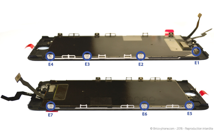 Etape 5 : Retirer la plaquette du LCD