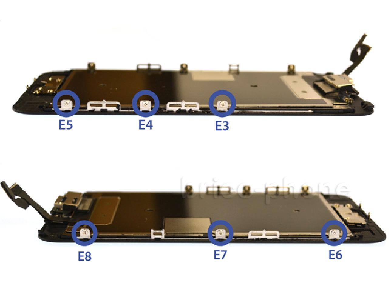Etape 7 : Enlever les vis de la plaquette métallique du LCD