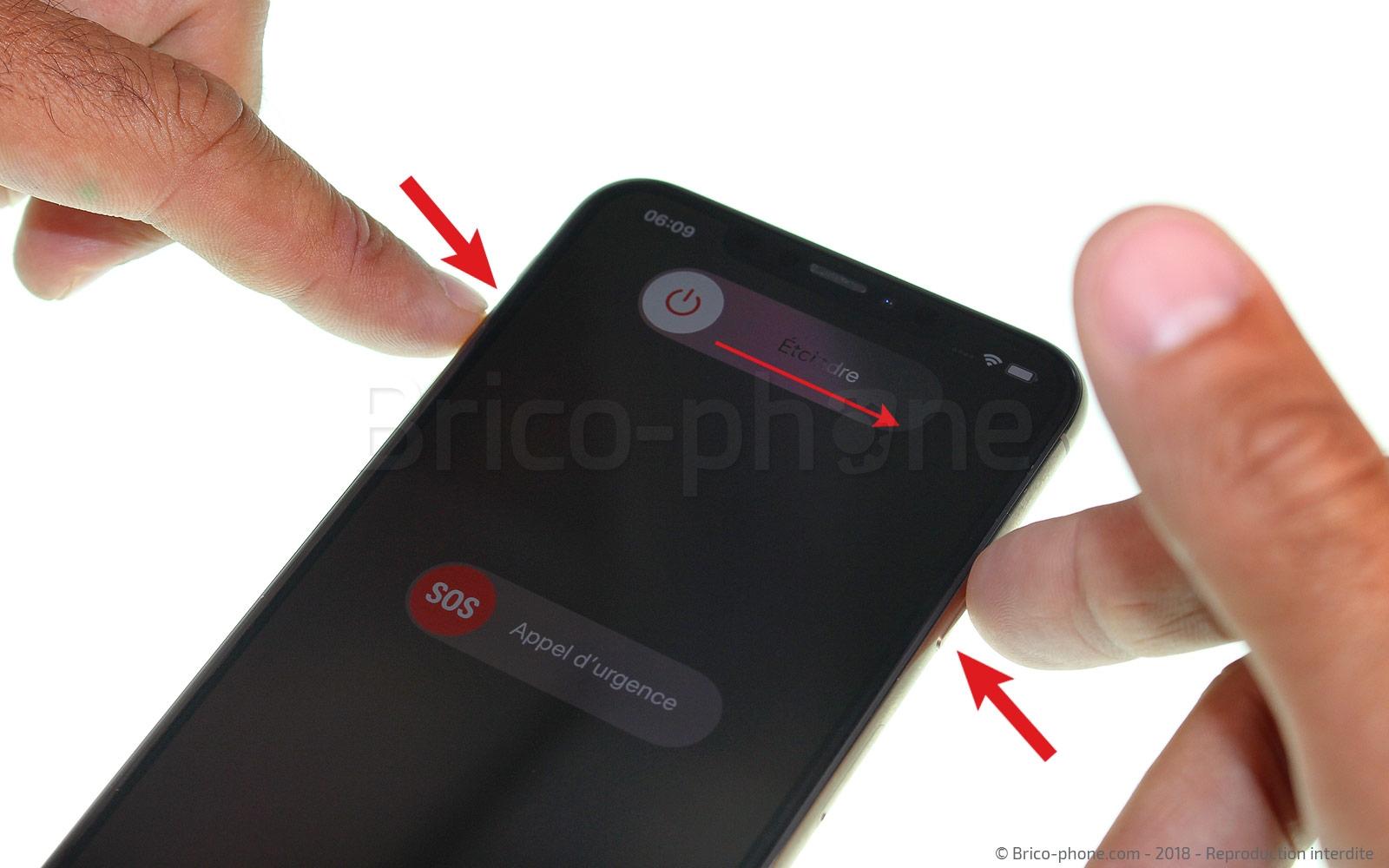 Etape 2 : Eteindre l'iPhone et retirer le rack sim