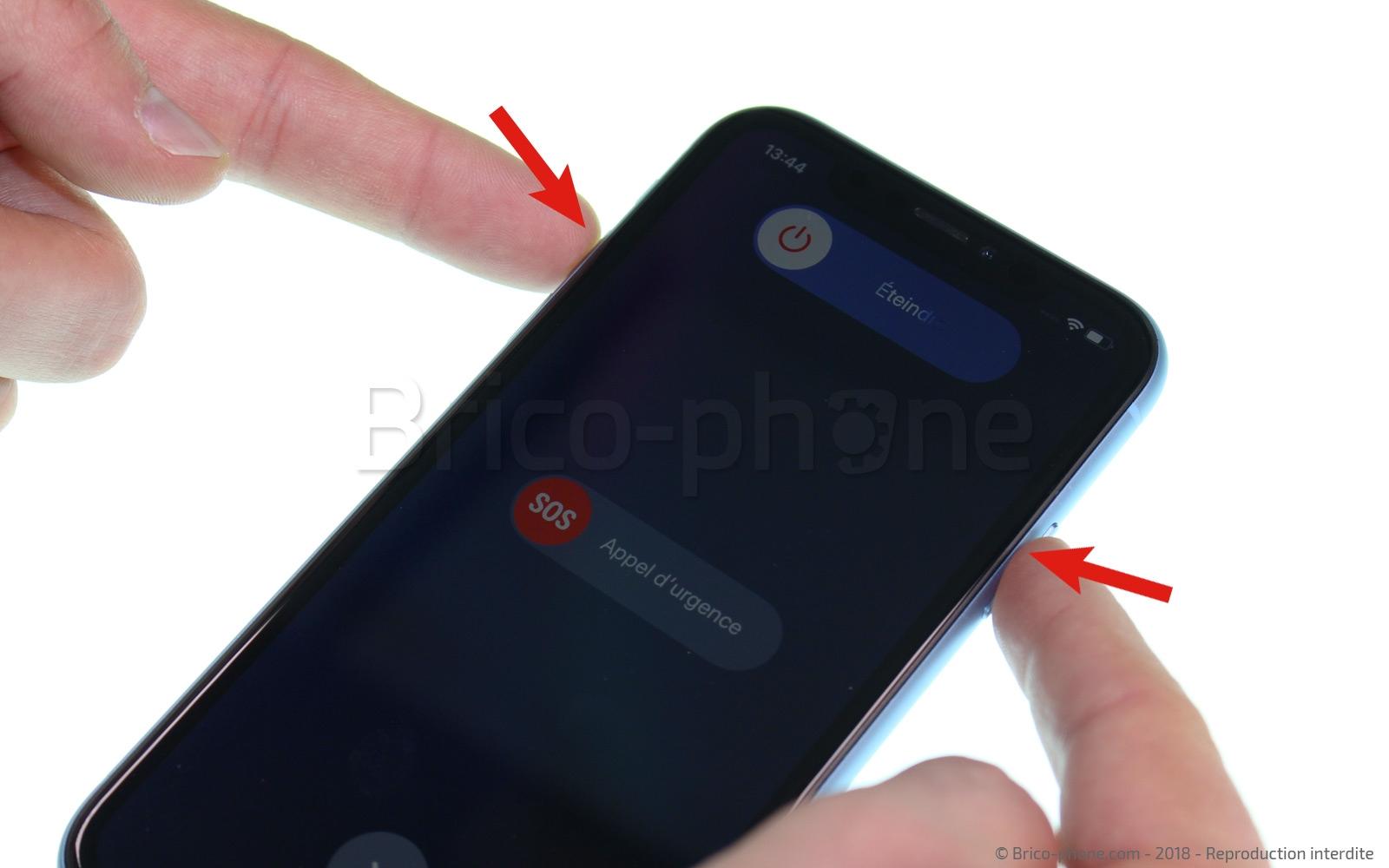 Etape 1 :  Eteindre le téléphone