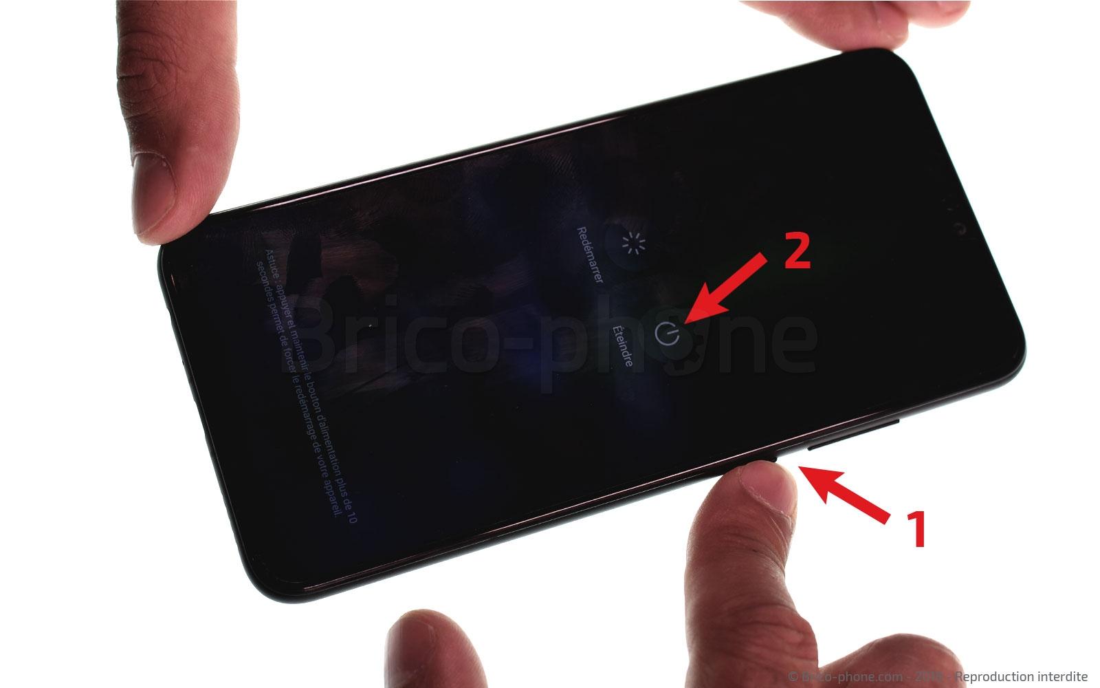 Etape 1 : Eteindre le smartphone