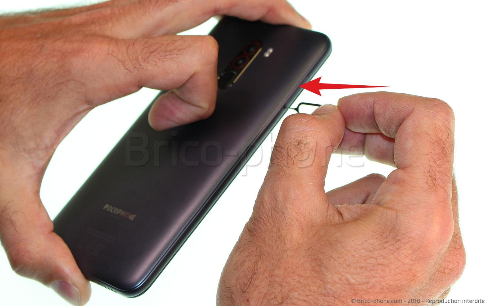 Etape 1: Eteindre le téléphone et retirer le rack sim