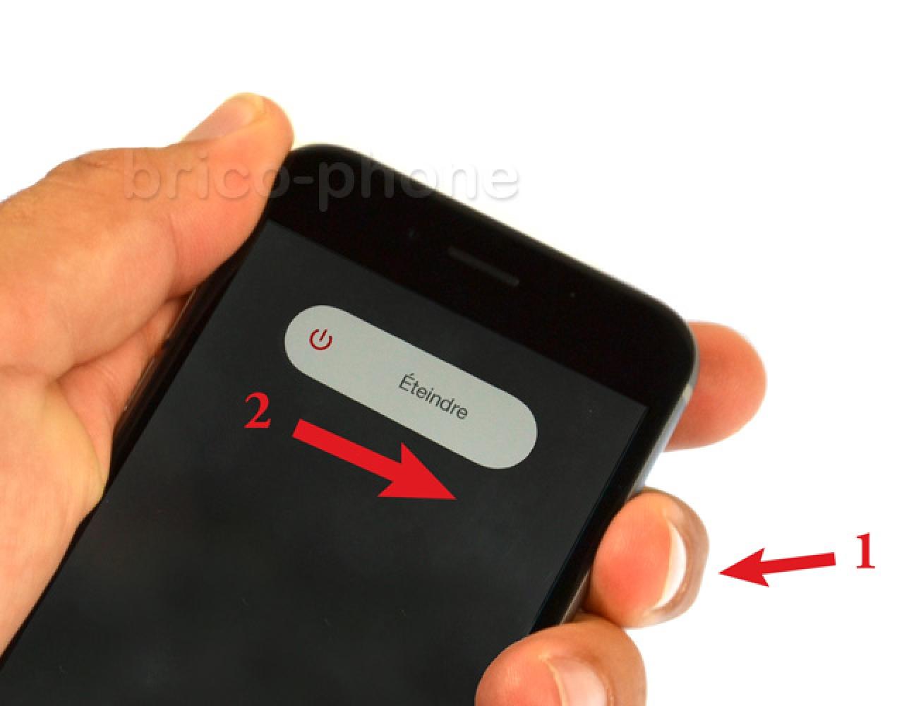 Etape 1 : Eteindre l'iPhone