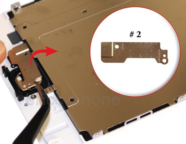 Etape 3b : Retirer la nappe du bouton Home