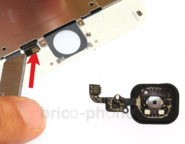 Etape 6a : Retirer la plaquette métallique du LCD