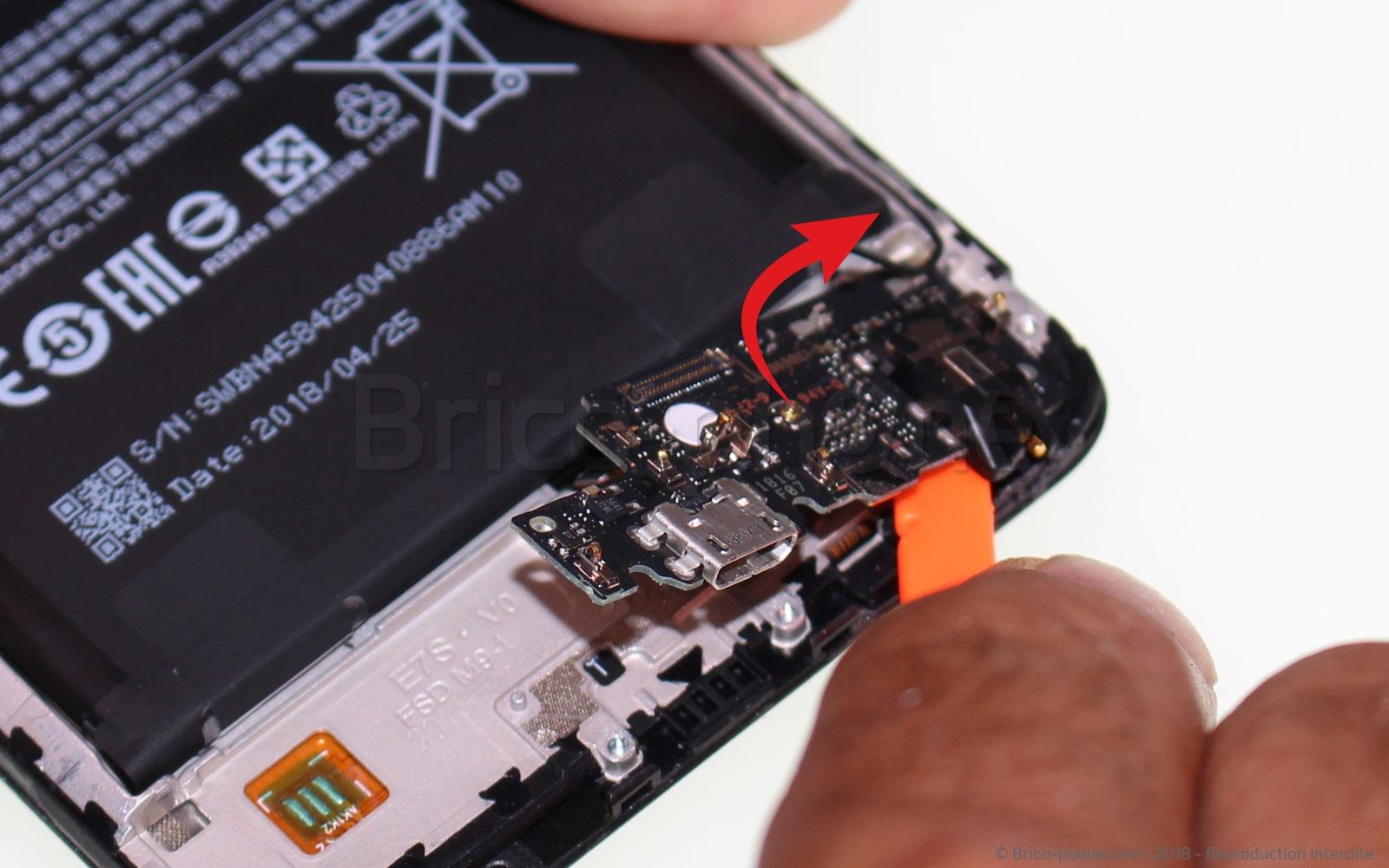 Etape 7 : Retirer  la carte USB
