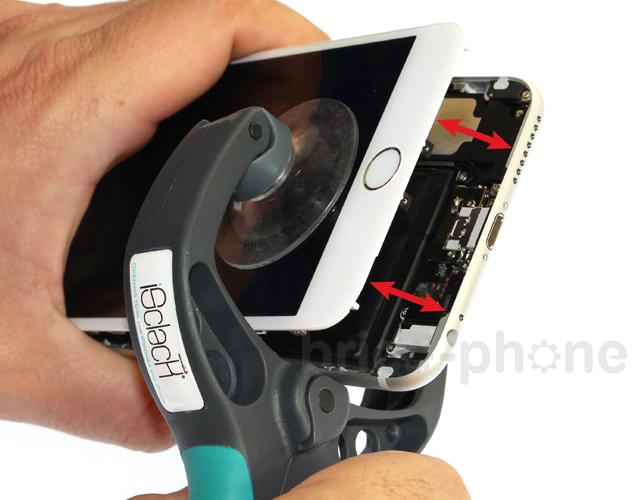 Etape 1c : Soulever le bloc vitre et LCD