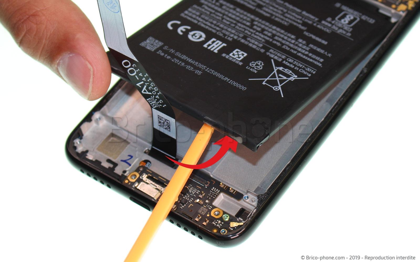 Etape 10 : Déloger le batterie