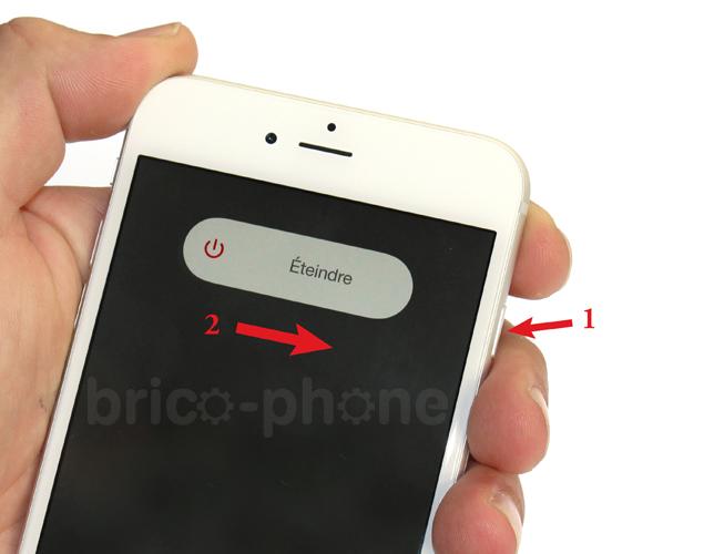 Commencer par éteindre votre iPhone puis retirer la carte SIM