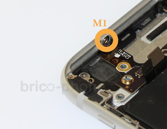 Etape 5j : Retirer l'antenne NFC