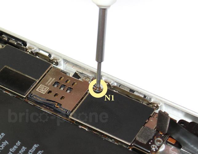 Etape 5h : Retirer l'antenne NFC