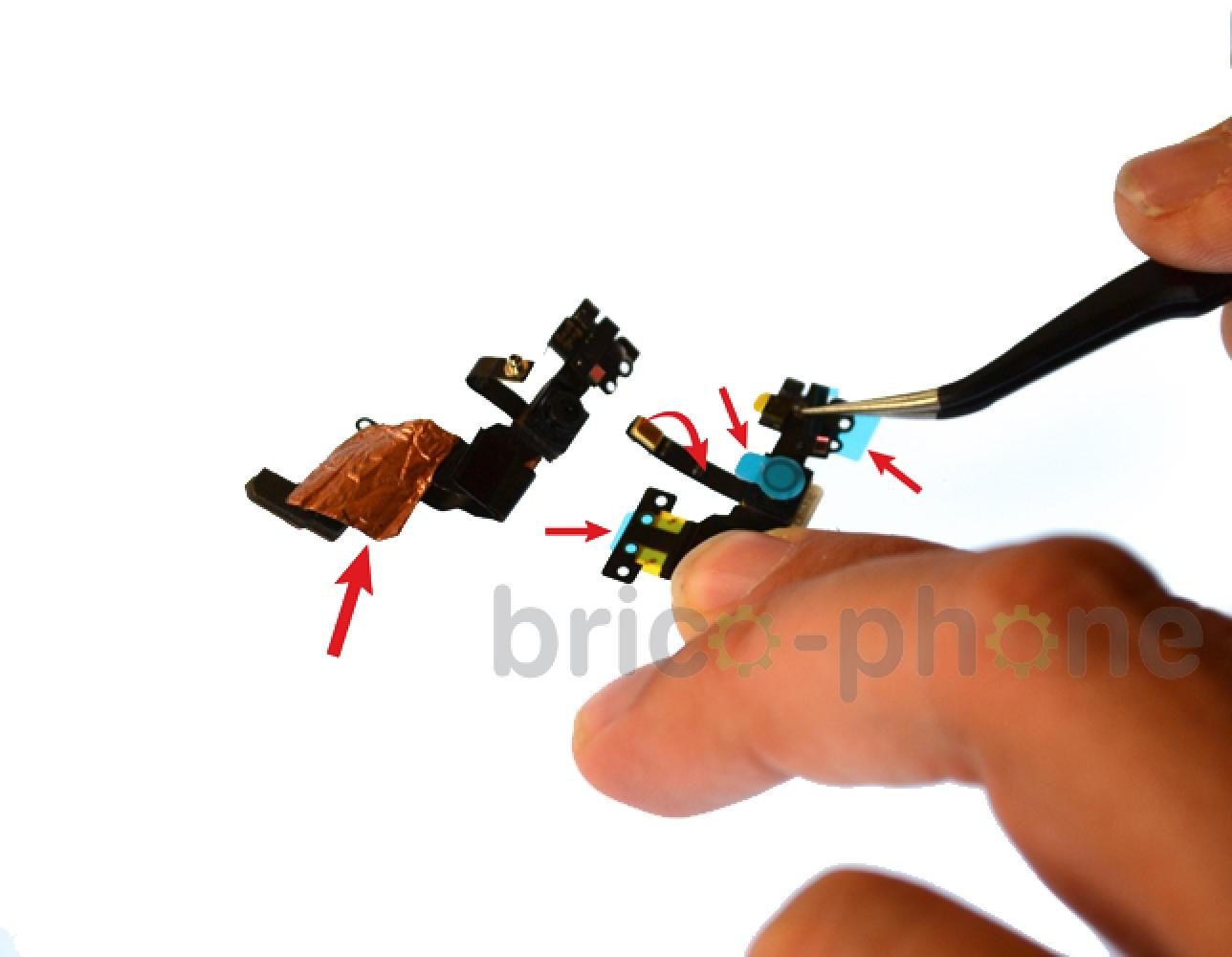 Etape 10 : Retirer la nappe du capteur de proximité