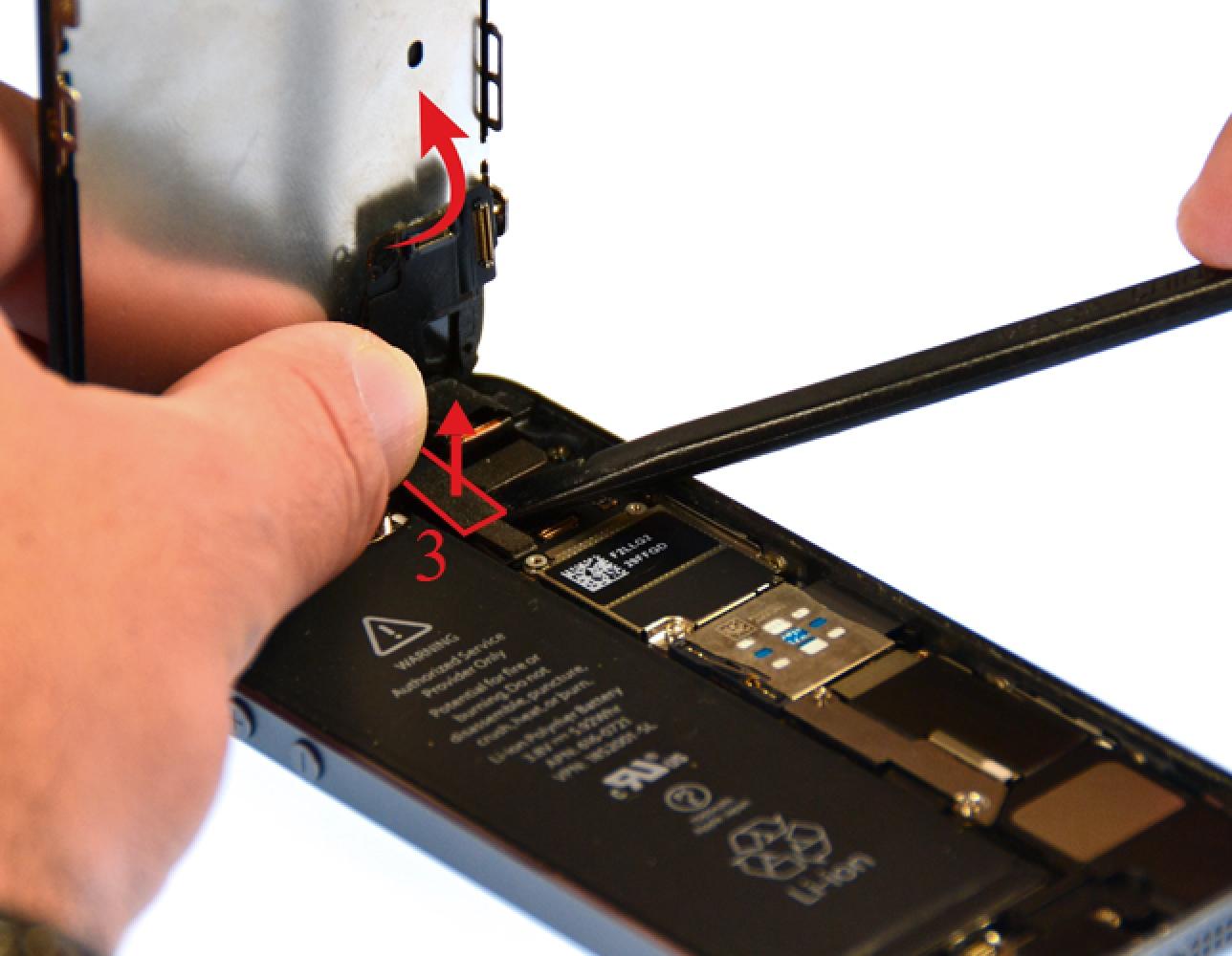 Etape 6 : Déconnecter les nappes LCD, tactile et caméra Facetime