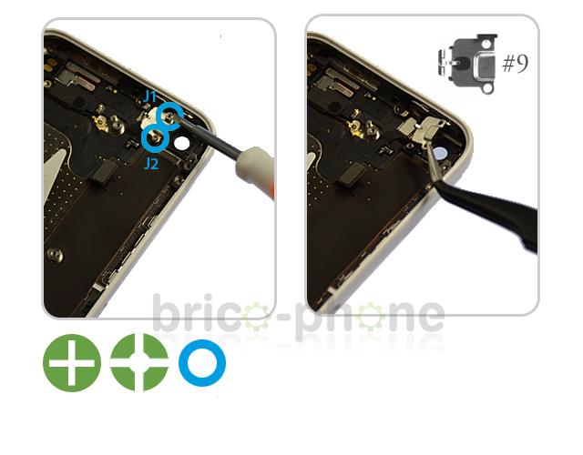 Etape 8a : Retirer la nappe Power, mute et volume