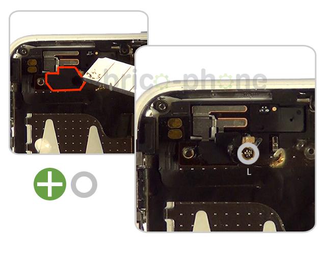 Etape 8c : Retirer la nappe Power, mute et volume