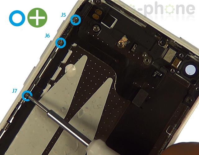 Etape 8e : Retirer la nappe Power, mute et volume