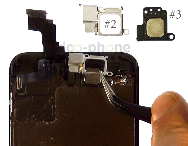 Etape 3b : Retirez la nappe du LCD, du tactile et de la caméra avant